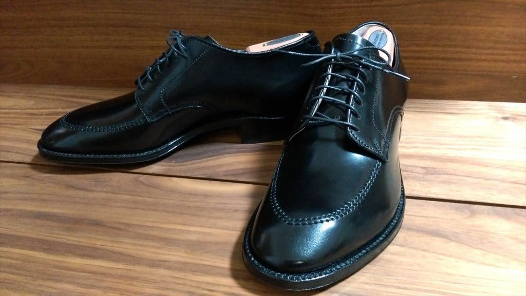 Alden black cordovan unlined U-tip modified last