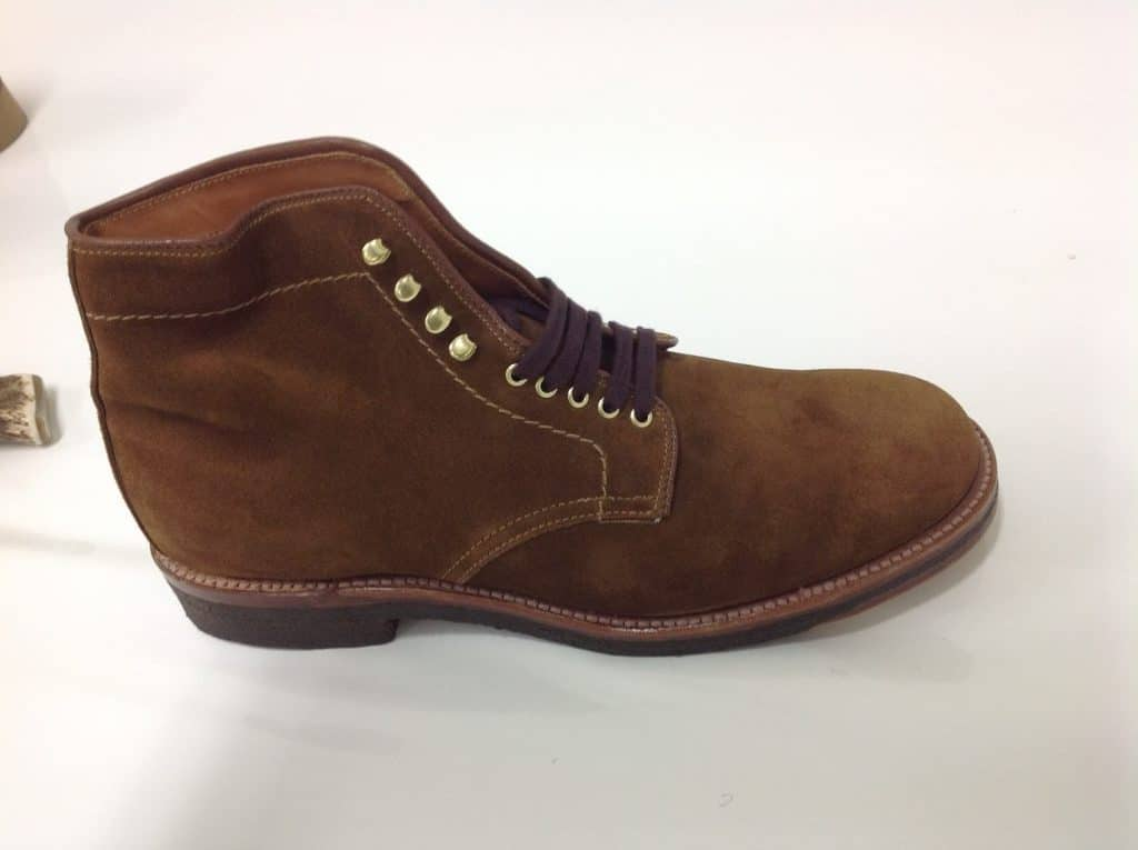 Alden snuff suede 6″Plain Toe boots 379X last (Military last)