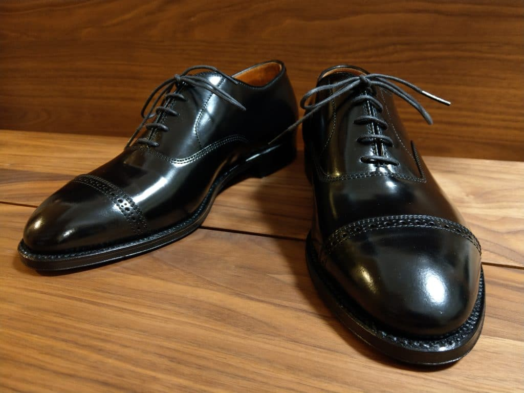 Alden black cordovan Perforated Straight Tip (PCT) Hampton last