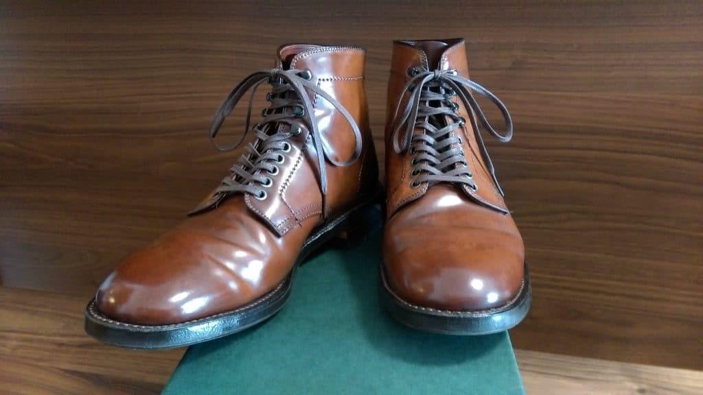 Alden cigar cordovan Plain Toe boots 379X last (Military last)