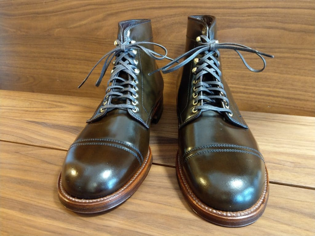 Alden ciagr cordovan double stitching Straight Tip Harley Boots 379X last (Military last)