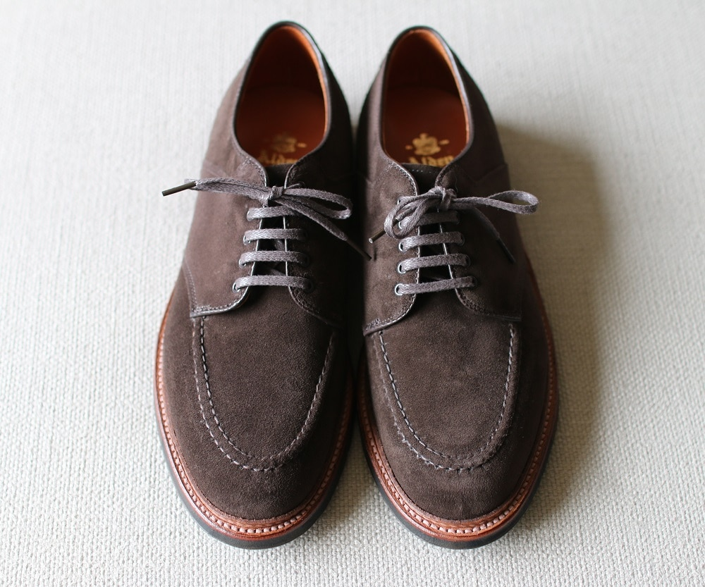 Alden Chocolate Suede U-Tip Saddle (AOC-81) Barrie last