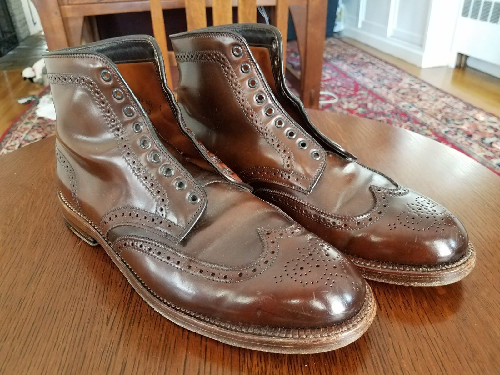 Alden cigar cordovan Wing tip (SWB) Brixton boots Barrie last