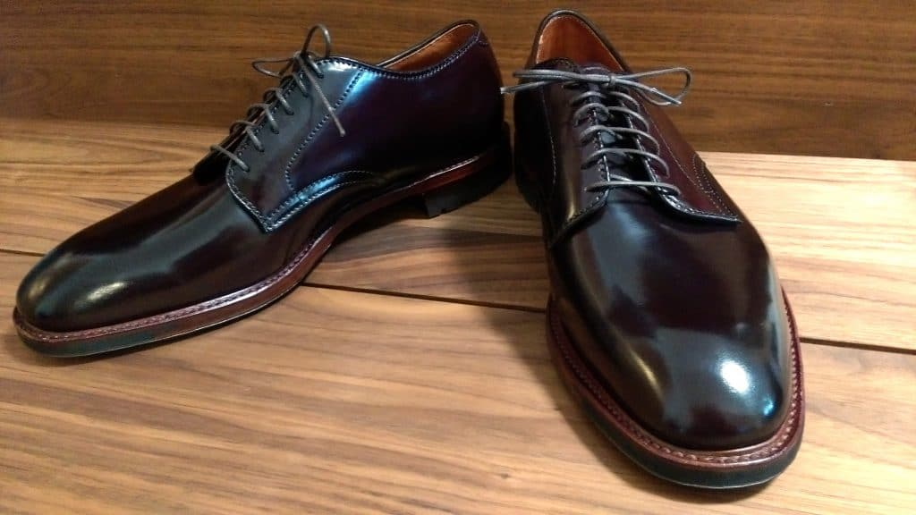 Alden color 8 cordovan Plain Toe (AF22) Plaza last