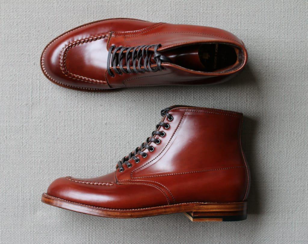 Alden mahogany cordovan Indy Boots Trubalance last