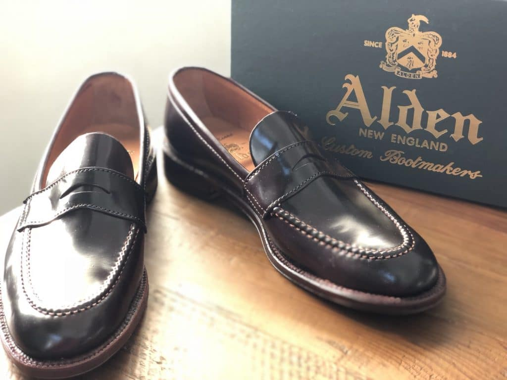 Alden color 8 cordovan unlined U-tip Loafer Leydon last