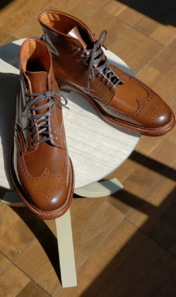 Alden ravello cordovan Wing tip (SWB) boots Barrie last