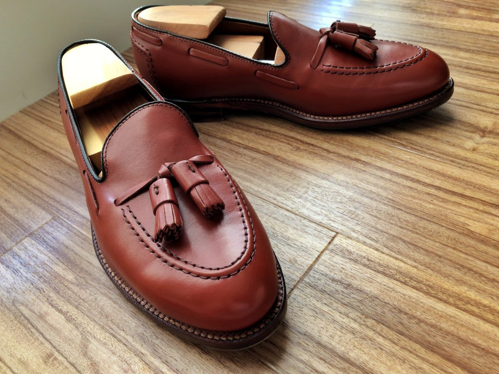 Alden X Brooks Brothers tan calf Tassel Loafer Aberdeen last
