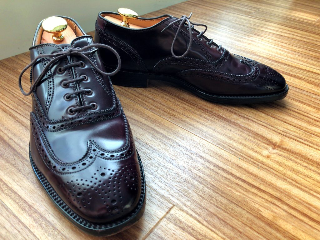 Alden X Brooks Brothers color 8 cordovan Wing Tip (SWB) Balmoral