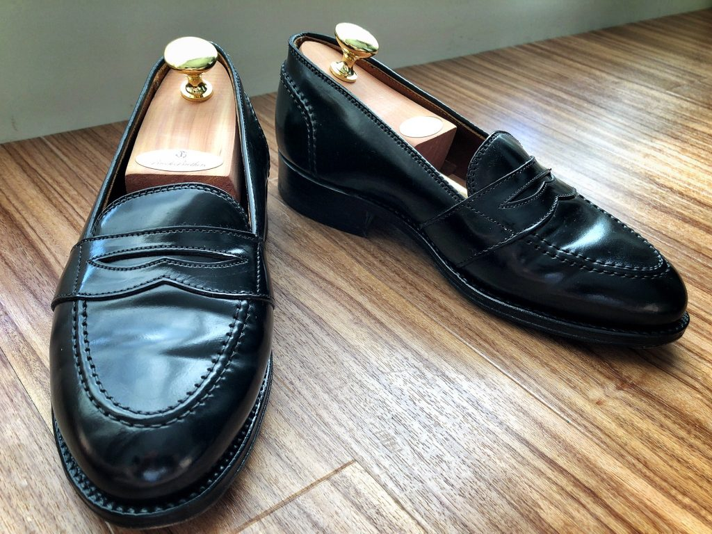 Alden X Brooks Brothers black cordovan Full Strap Loafer Aberdeen last
