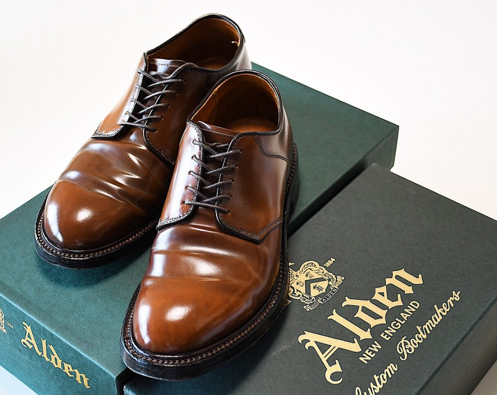 Alden mahogany cordovan Plain Toe Saddle 379X last (Military last)