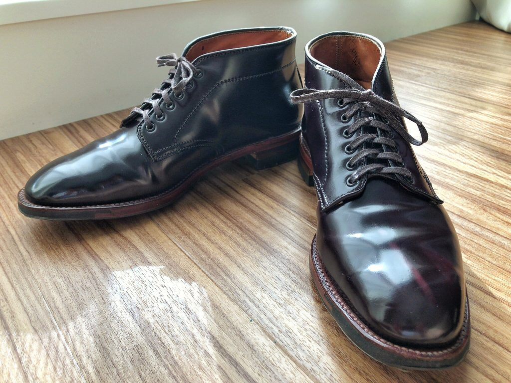 Alden color 8 cordovan Chukka boots Plaza last