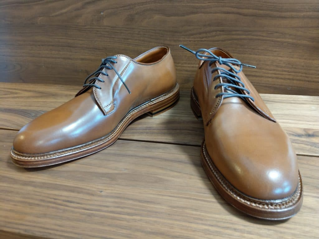 Alden whiskey cordovan Plain Toe Barrie last