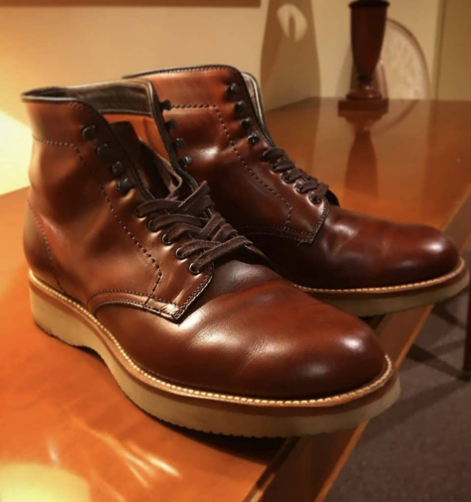 Alden Brown Chromexcel Plain Toe boots 379X last (Military last)