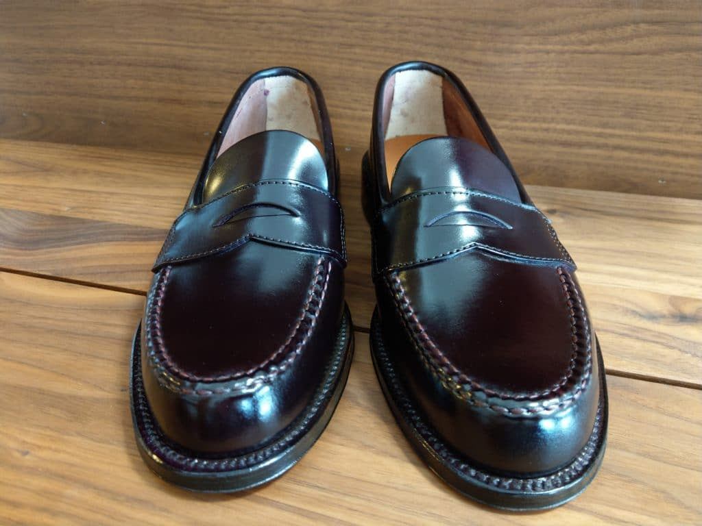 Alden X Brooks Brothers black cordovan U-tip Loafer Van last