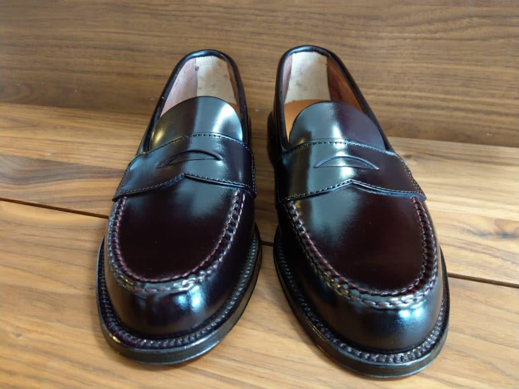 Alden X Brooks Brothers black cordovan U-tip Loafer Van last